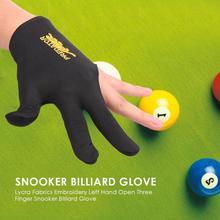 Gant de Billard Snooker broderie gants de Billard main gauche ouverte trois doigts gant accessoire livraison directe