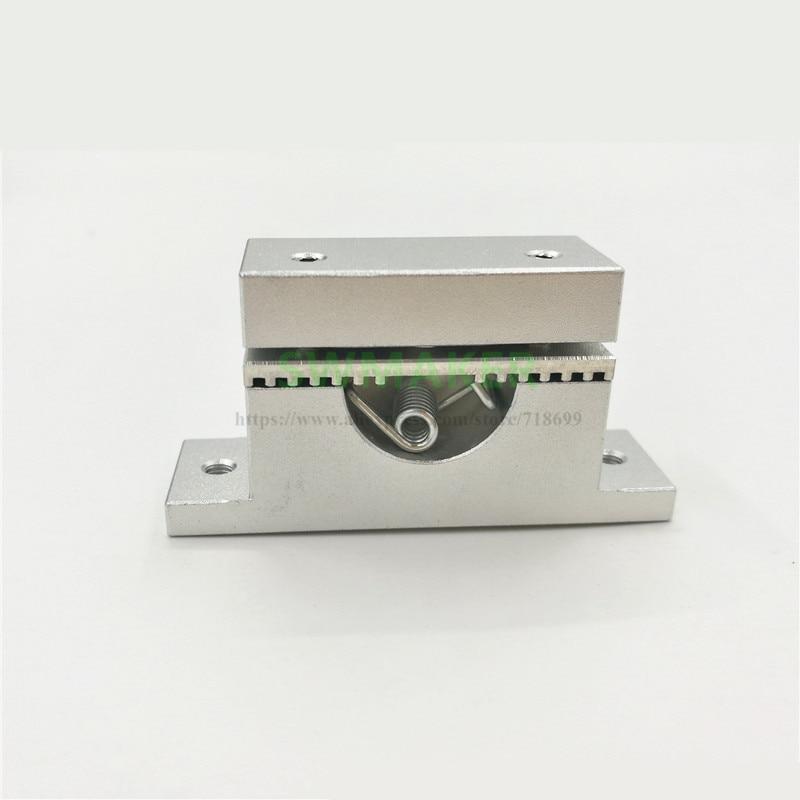 Actualizar todo metal aleación de aluminio y-cinturón titular y-axis Tensor de correa de distribución para DIY reprap Mendel Prusa i3 3D impresora envío rápido