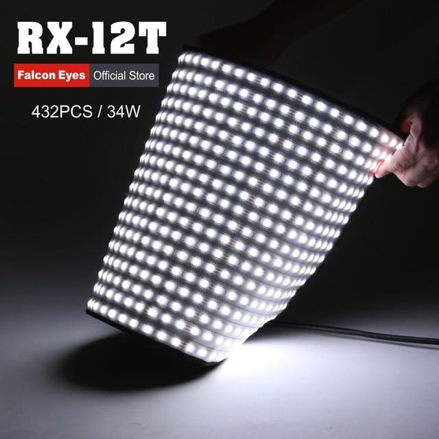 Falcon eyes 34 w para câmera de vídeo iluminação fotografia luz portátil led fotografar 280 pces flexível foto lâmpada RX-12 cd40y