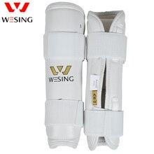 Protector de Taekwondo blanco Wesing para antebrazo, Protector de brazo de Kickboxing, espinillera ajustable de Taekwondo, aprobado por WTF