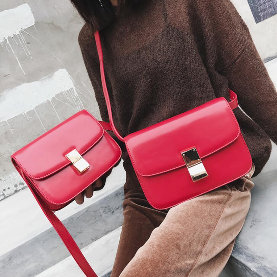 European Vintage Fashion Female Square Bag 2021 New High quality PU Leather Women's Handbag Simple Casual Shoulder Messenger Bag
