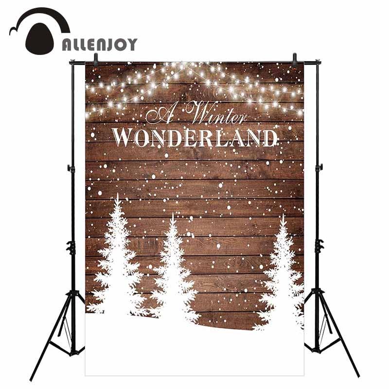 Allenjoy winter wonderland photography backdrop wood snow party glitter wedding background photocall photobooth photo shoot prop