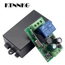KTNNKG AC 85V 110V 220V 433 Mhz Telecomando Universale Senza Fili Interruttore di Controllo 1CH Relè Modulo Ricevitore per RF 433 Mhz Telecomandi