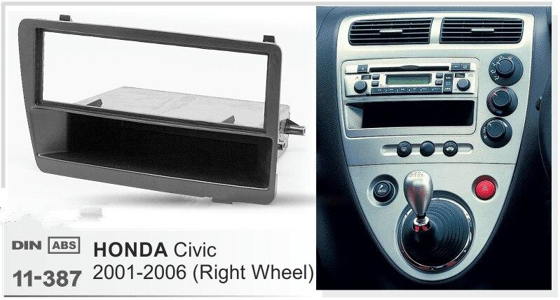 Car Radio Fascia Frame Kit For Honda civic 2001-2006 Audio Bezel Facia Panel Trim Dash Double Din Mount Kit
