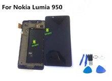 블랙 lcd 디스플레이 터치 스크린 디지타이저 어셈블리 프레임 교체 부품 마이크로 소프트 노키아 lumia 950