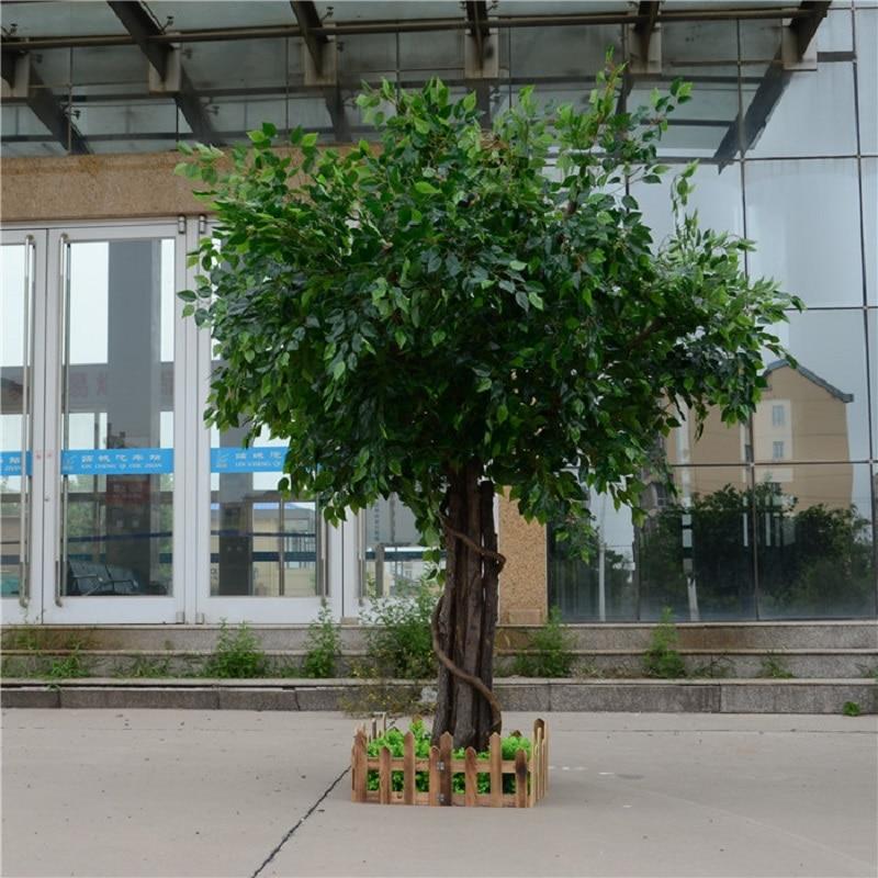 اللبخ الاصطناعي microcarpa شجرة اصطناعية كبيرة أشجار وهمية كبيرة نبات الديكور فندق اللوبي تكوين