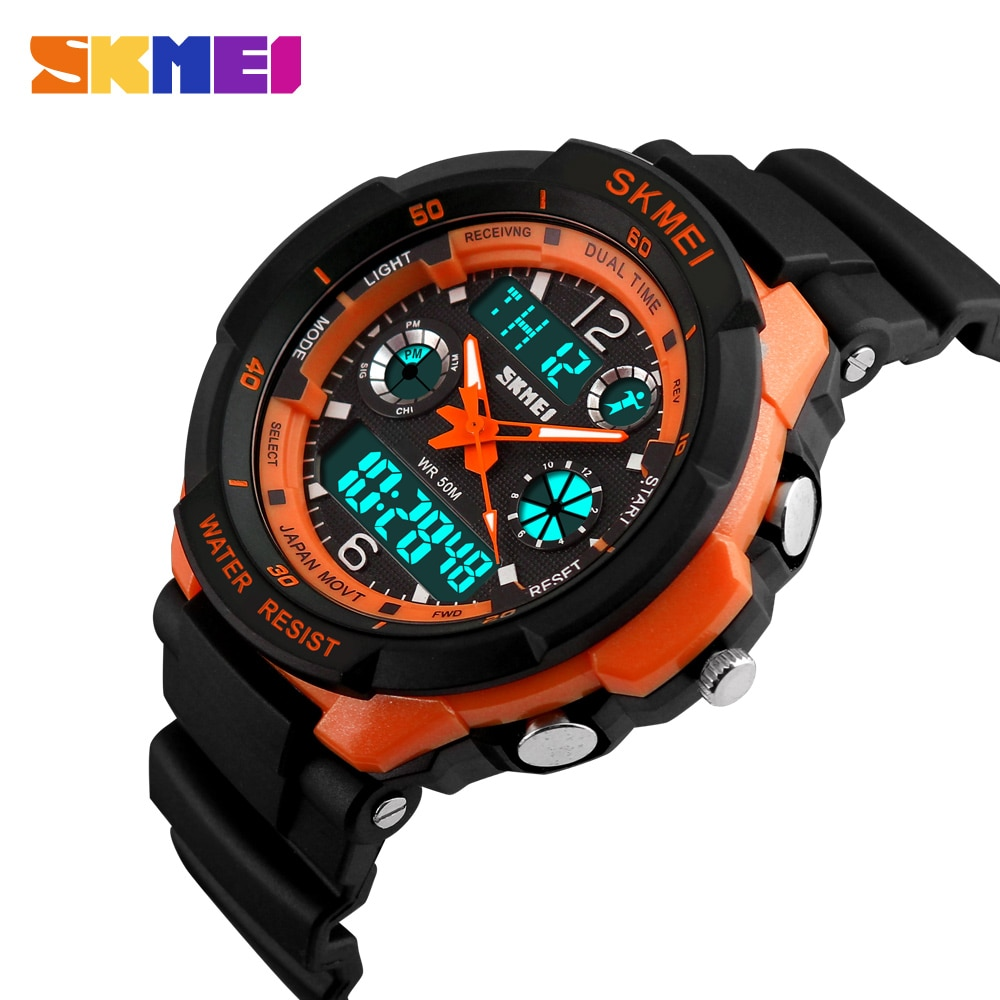 SKMEI Kids Watches Anti-Shock 5Bar Waterproof Outdoor Sport Children Watches Fashion Digital Watch R