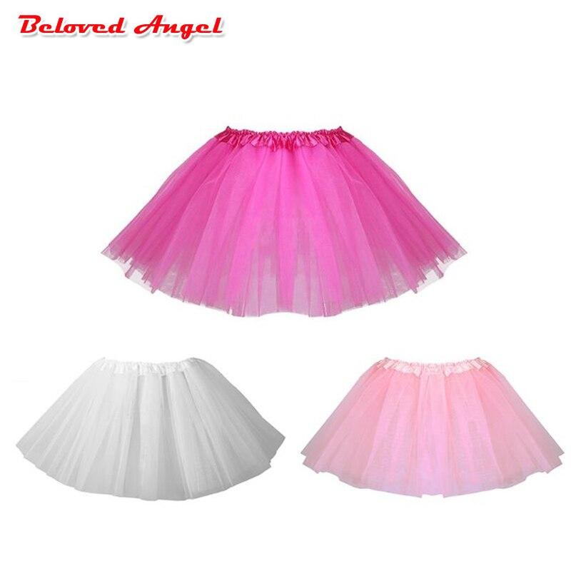 Niñas Pettiskirt faldas de tutú de bebé niños tul abultado Mini faldas niño Infante falda para niñas princesas Ballet baile fiesta falda