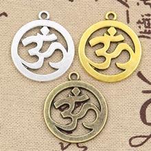 4 pièces breloques Yoga OM Lotus 29x25mm creux Antique breloques, pendentif ajustement, or Bronze tibétain Vintage, bijoux faits main bricolage