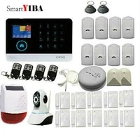 SmartYIBA RU FR ES SE commutable sans fil securite a la maison WIFI GSM 4G GPRS systeme dalarme APP telecommande Kit de bricolage