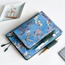 Van Gogh-étui à cahier en tissu Vintage, arbre de fleur, cahier couverture de Journal, A5, A6