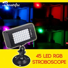 45 led RGB ستروب USB 5v مصطربة للديسكو المنزل حزب اللون ضوء الموسيقى ستروب أضواء