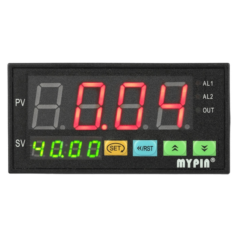 Mypin digital sensor medidor multi-funcional inteligente display led 0-75mv/4-20ma/0-10 v 2 saída de alarme de relé Da8-Rrb