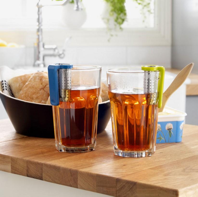 Tea Infuser Reusable Tea Strainer Teapot Stainless Steel Tea Spoon Infuser Filter Random Color