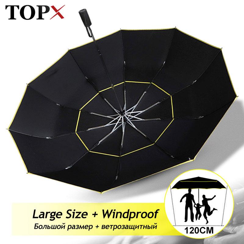 Fully Automatic Wind Resistant Umbrella Rain Women Double High Quality Large 3Folding Travel Windpro