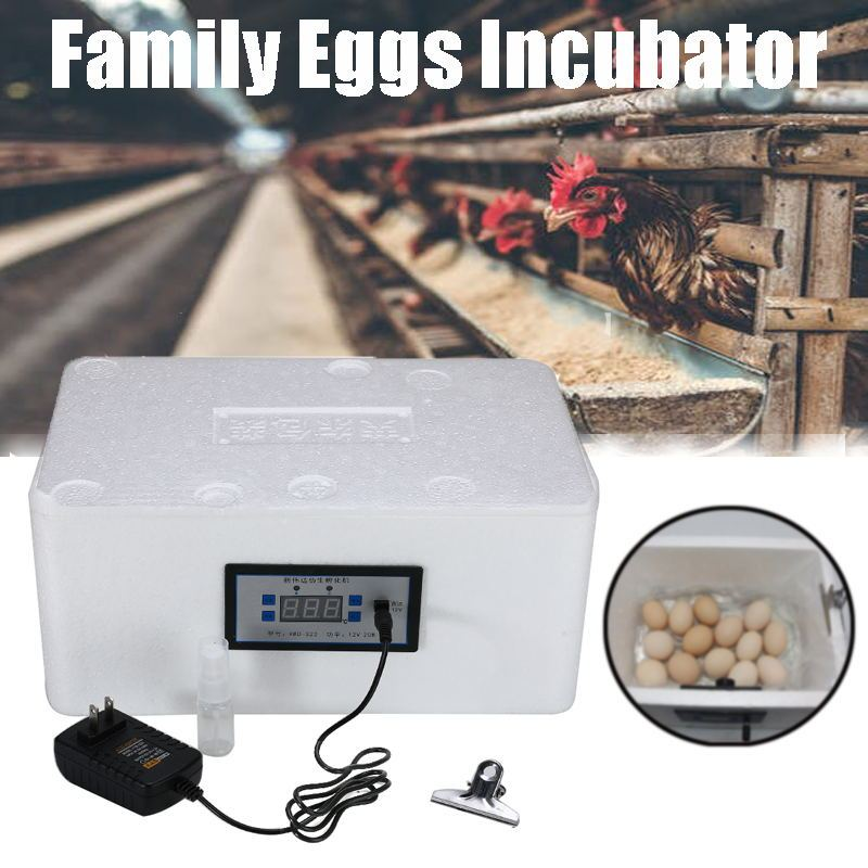 Incubadora Digital automática de huevos familiares de 22 posiciones para incubadora de aves de corral de pollo