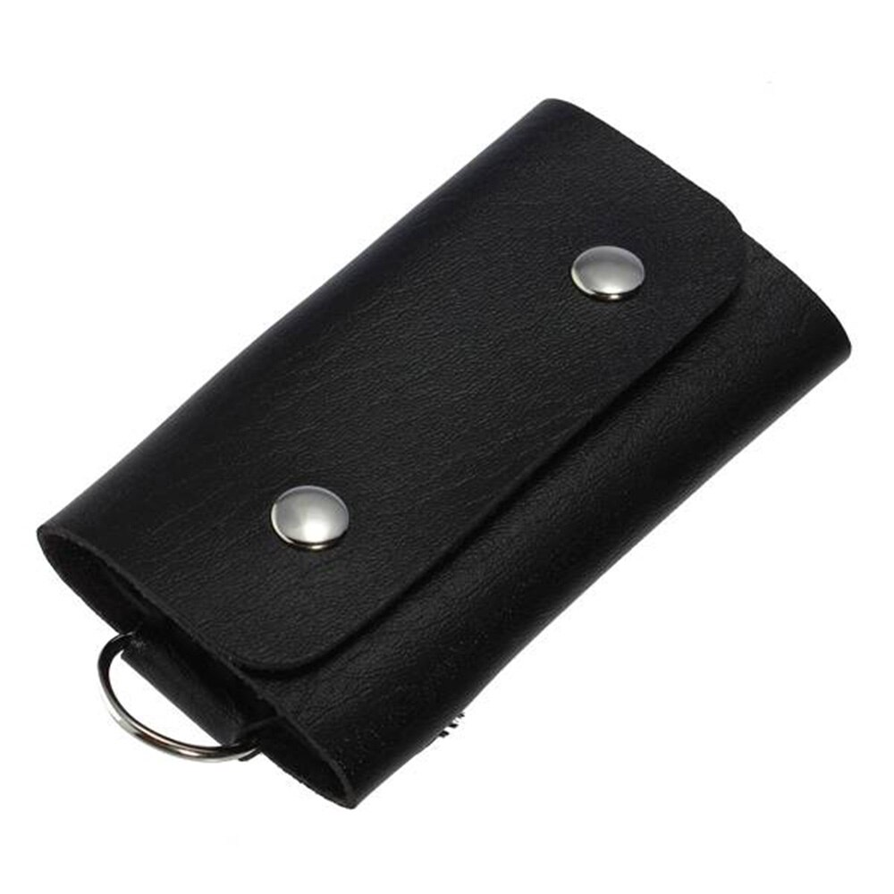 ISKYBOB New 1PC Men Women PU Leather Key Chain Accessory Pouch Bag Wallet Case Key Holder Key Organi