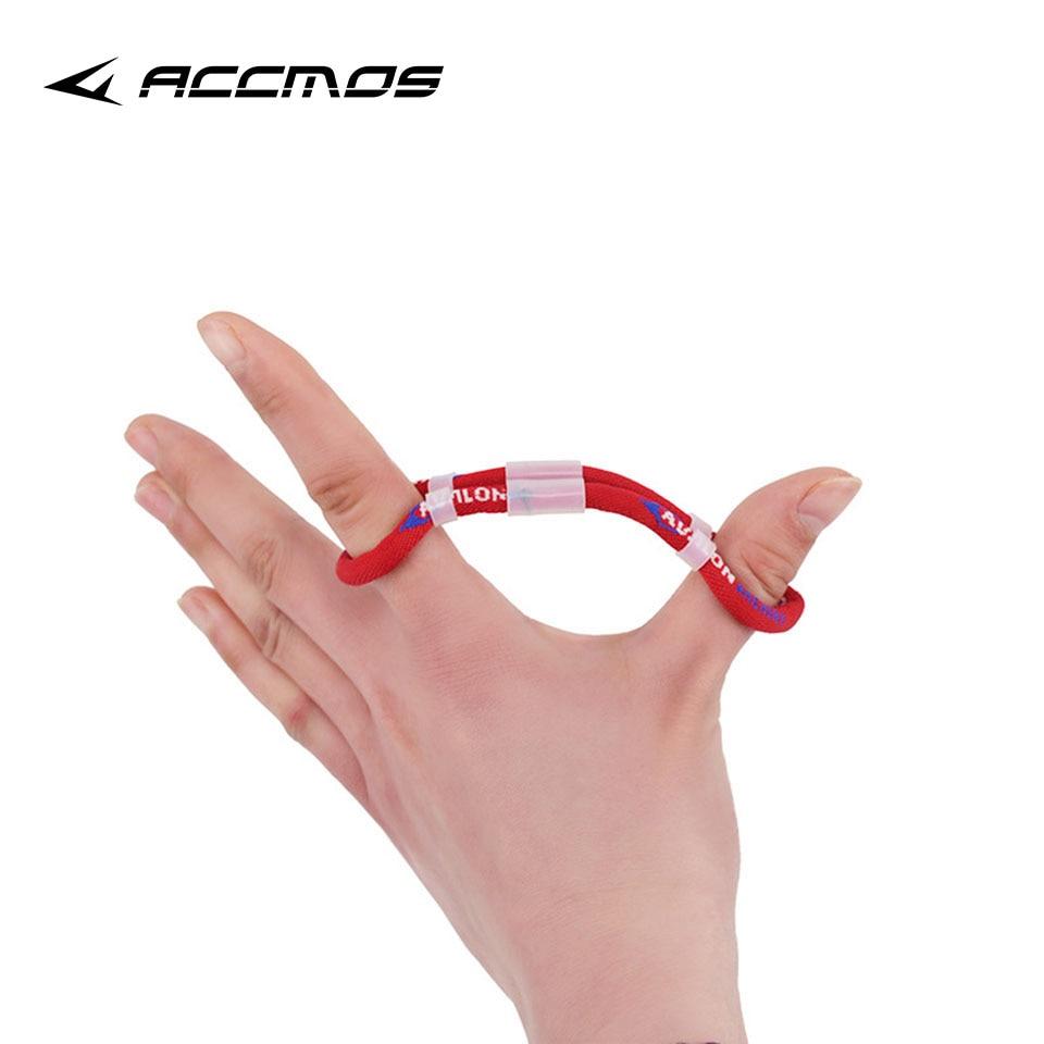 1 pieza de eslinga de dedo de Tiro con Arco en negro/rojo recurvo ajustable para caza tiro con arco accesorio 12,5/13,5/14,5 cm