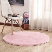 16 couleurs accueil Beige tapis rond épaissir doux tapis pour salon Kilim Aera tapis enfants chambre Yoga tapis sol paillassons