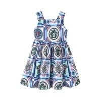 girls dress floral new spring summer kids dresses for girls children sleeveless camisole knee length dress a line dress