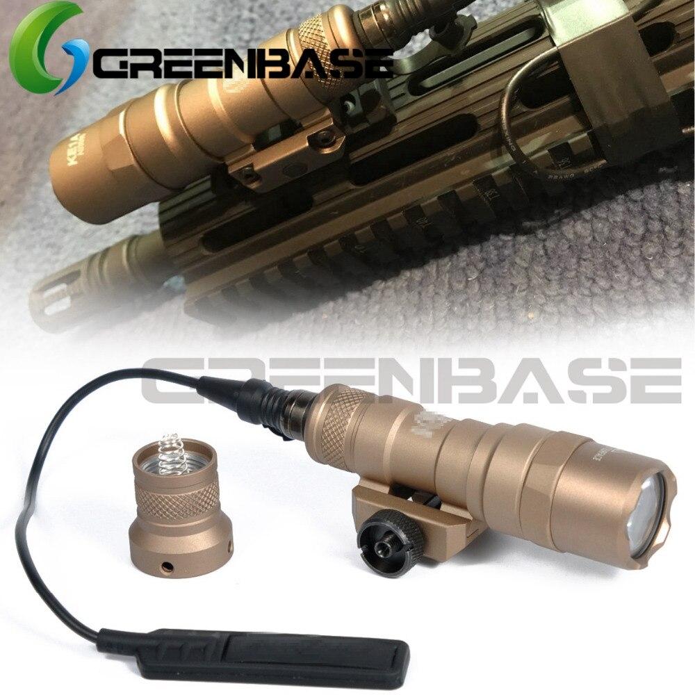 Greenbase SF M300 táctico luz LED M300B Mini Scout luz constante/momentáneo 2 modos de 400 lúmenes de luz blanca Salida 20mm