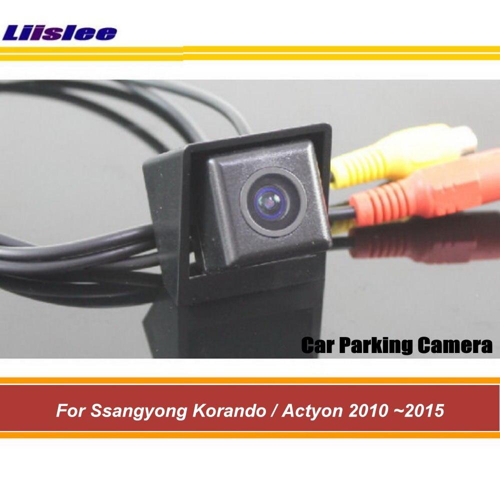 Liislee para Ssangyong Korando/Actyon 2010 ~ 2015 HD Visión Nocturna/cámara de Vista trasera de coche/cámara de marcha atrás