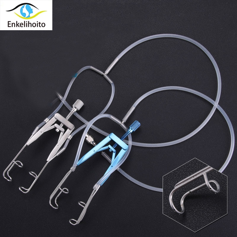 Microscope stainless steel water injection handle flushing handle ophthalmic flushing opener adjustable titanium alloy