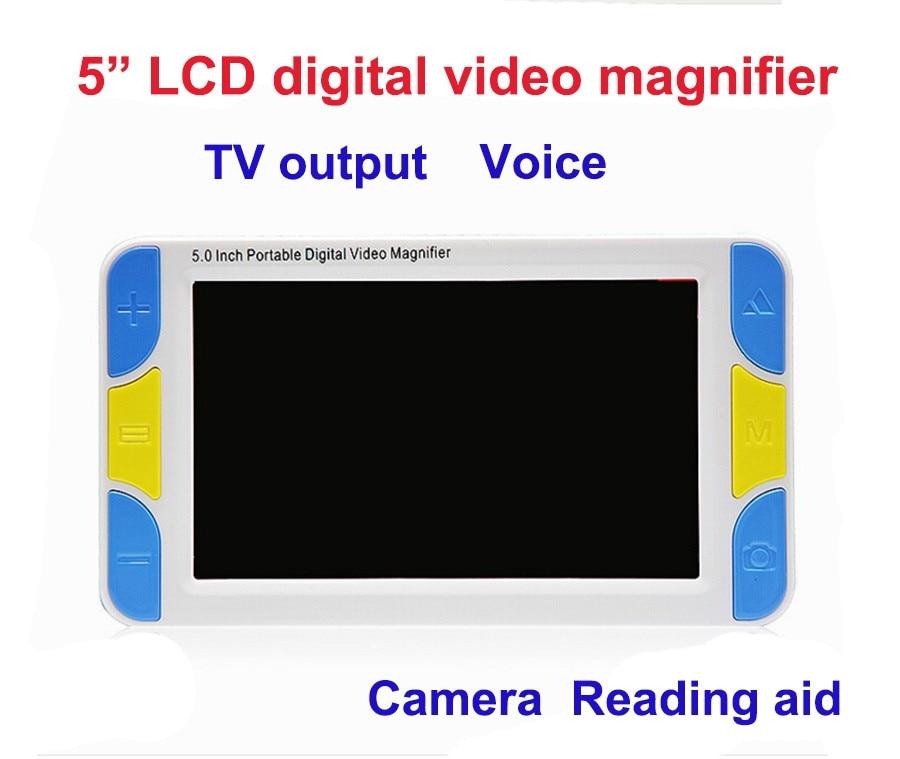 "5 ""LCD Display Niedrigen Vision Video Lupe elektronische lesen aid, Digitale Handheld tragbare Video Lupe"