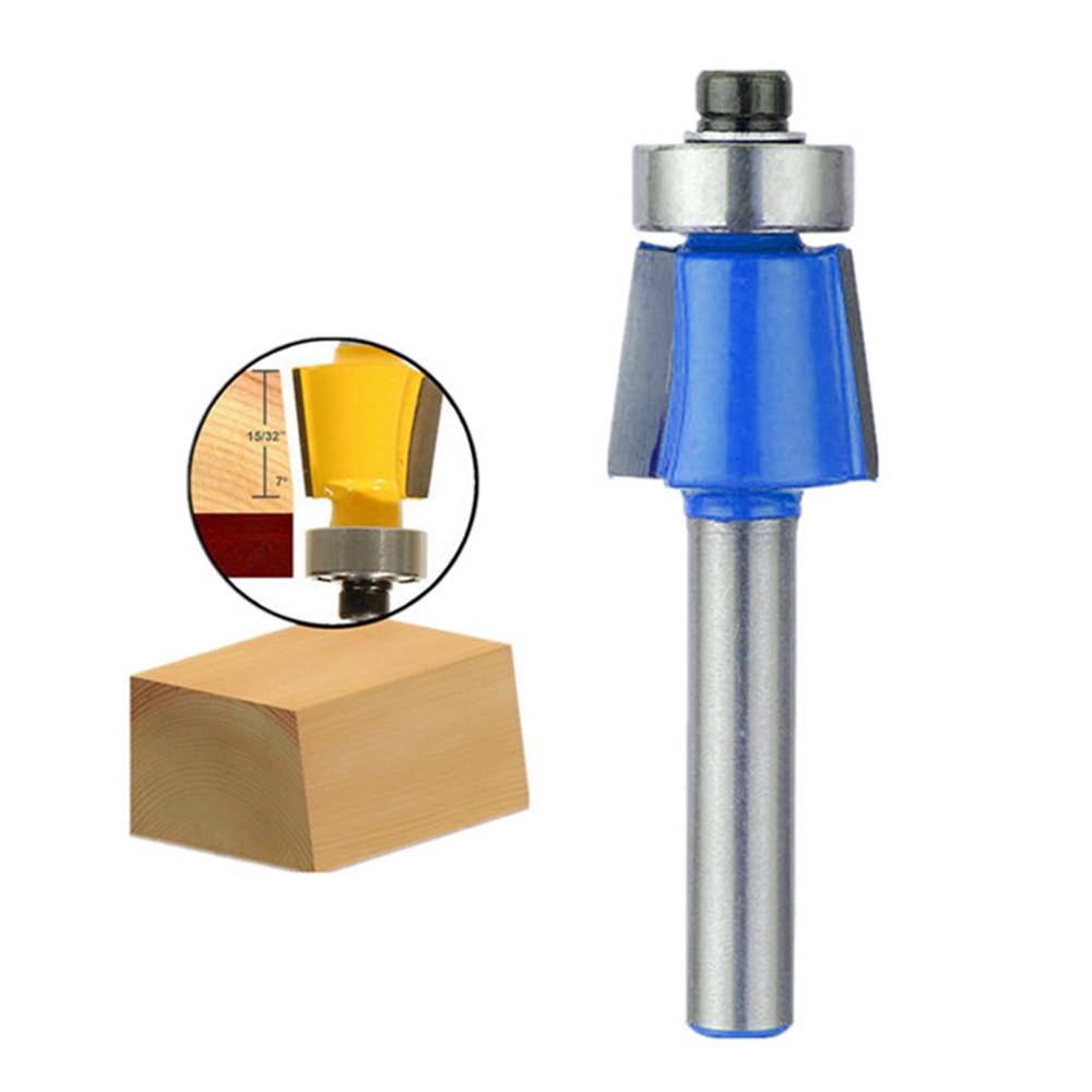 1/4 Inch Shank Trim Router Bit 7 Degree Bevel Trim Router Bit Woodworking Cutter Carbide Tools HSS Milling Cutter Tools Kit