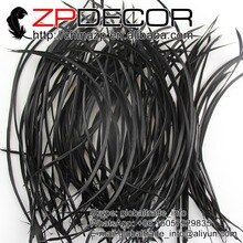 ZPDECOR 200 개/몫 20-25cm(8-10inch) 13 색 핸드 선택 프리미엄 제품 블랙 거위 Biots 카니발 염색 깃털