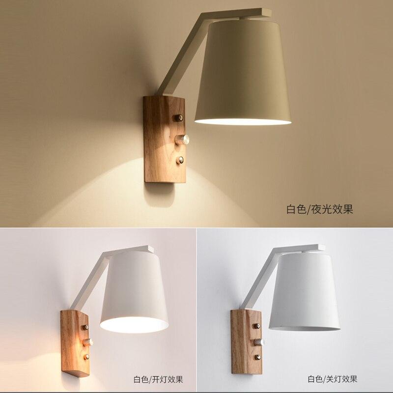 Eiche Moderne holz LED Wand Lampe Lichter Für Schlafzimmer Home Beleuchtung, Wandleuchte solide holz wand licht nacht lampe