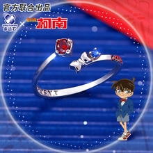 Detective Conan Ring Silver 925 Sterling Cross Jewelry Anime Role Shinichi Shihara kaitou kid Figure Model