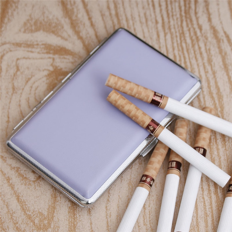 New Hot  Leather Storage Box Case Container for men and women Cigarette Lighter  11cm Smoking Pouch for 14 Cigarettes Convenient enlarge