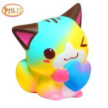 Squishes 천천히 상승 squishi kawaii squishy for child squeeze 동물 squish squishies 스트레스 릴리프 squishy cat