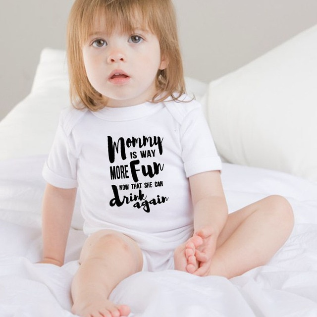 DERMSPE Summer 2019 Toddler Baby Girls Boys Romper With short sleeves Letter printed Jumpsuit Outfits Sunsuit Clothes Playsuit 10
