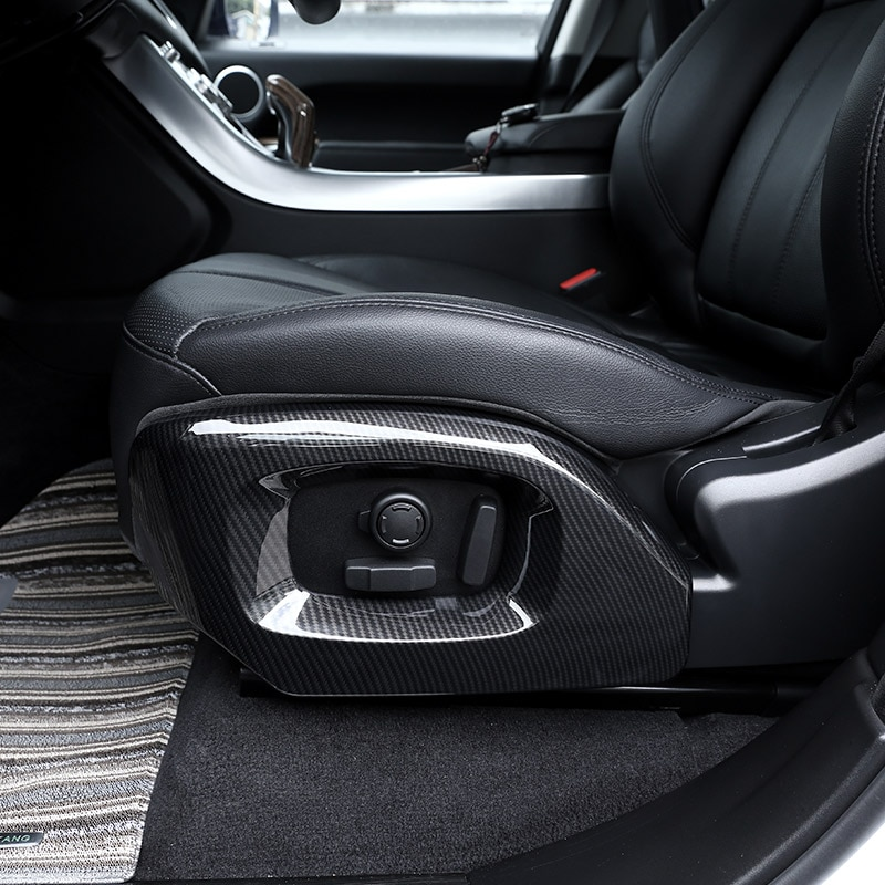 For Land rover Range Rover Vogue Autobiography For Range Rover Sport 2014-17 Car Carbon Chrome Seat Side Cover Trim Accessories
