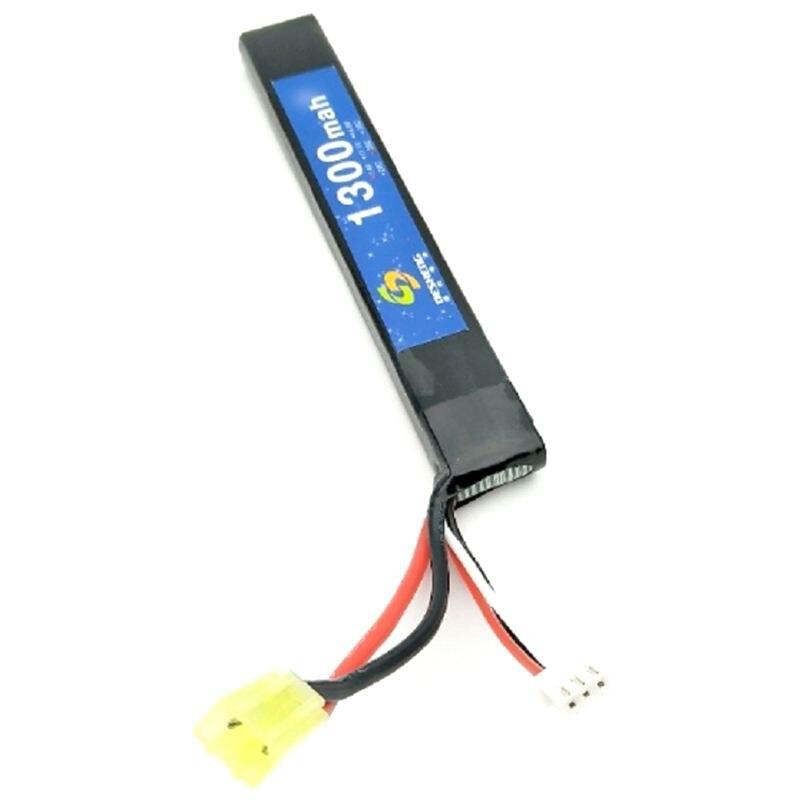 Batería Para réplica AEG 7,4 V 1300 MAH LI-PO tipo palo recargable 18568 AIRSOFT