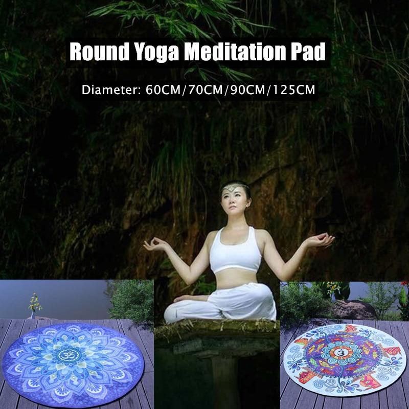 Good Sit in Meditation Circular Meditation Pad Yoga Mats Cushion Yoga Fitness Acetate Fiber Exercise Mats Skid Resistant Carpets