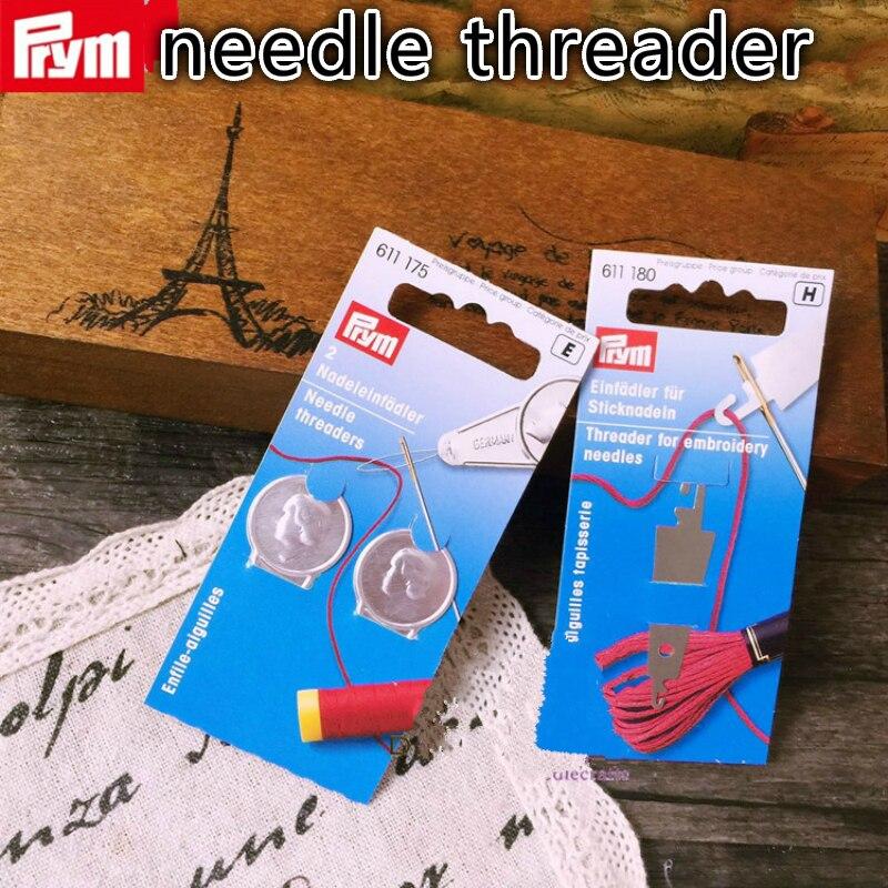 Dos tipos de modelos de enhebrador de punto de cruz alemán Prym, hilo coser bordado acolchado enhebrador de aguja