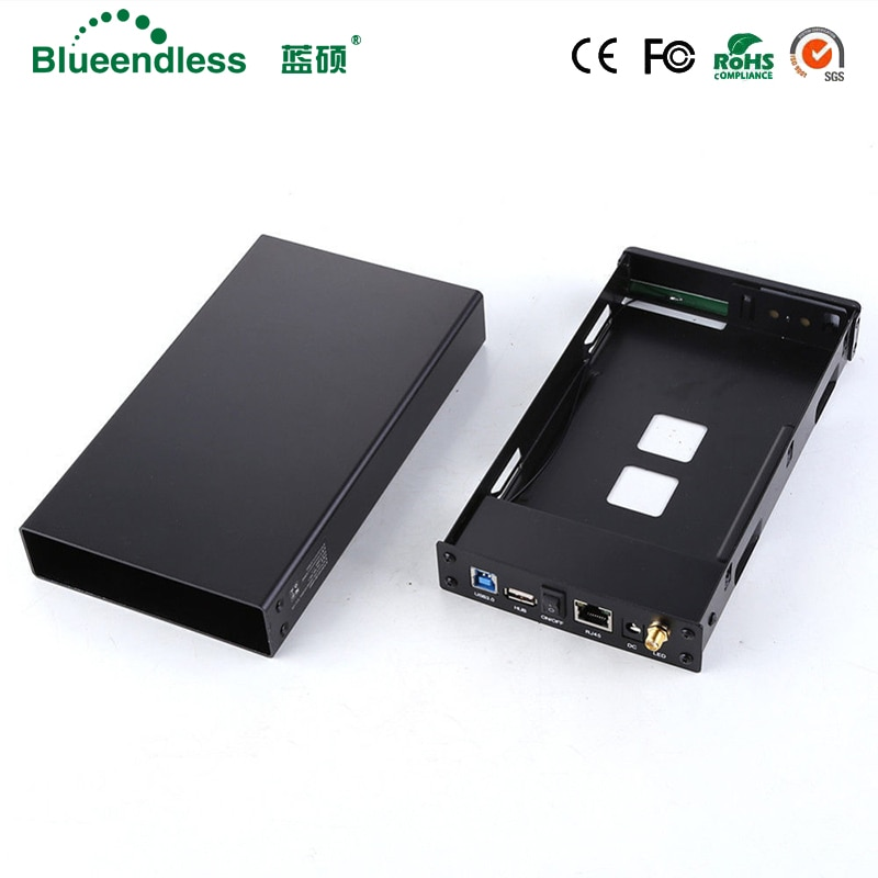 SATA USB 3,0 hdd3.5 Wifi удлинитель/HDD Bay HDD корпус SATA интерфейс алюминиевый Nas корпус RJ45 Wifi маршрутизатор репитер HDD корпус
