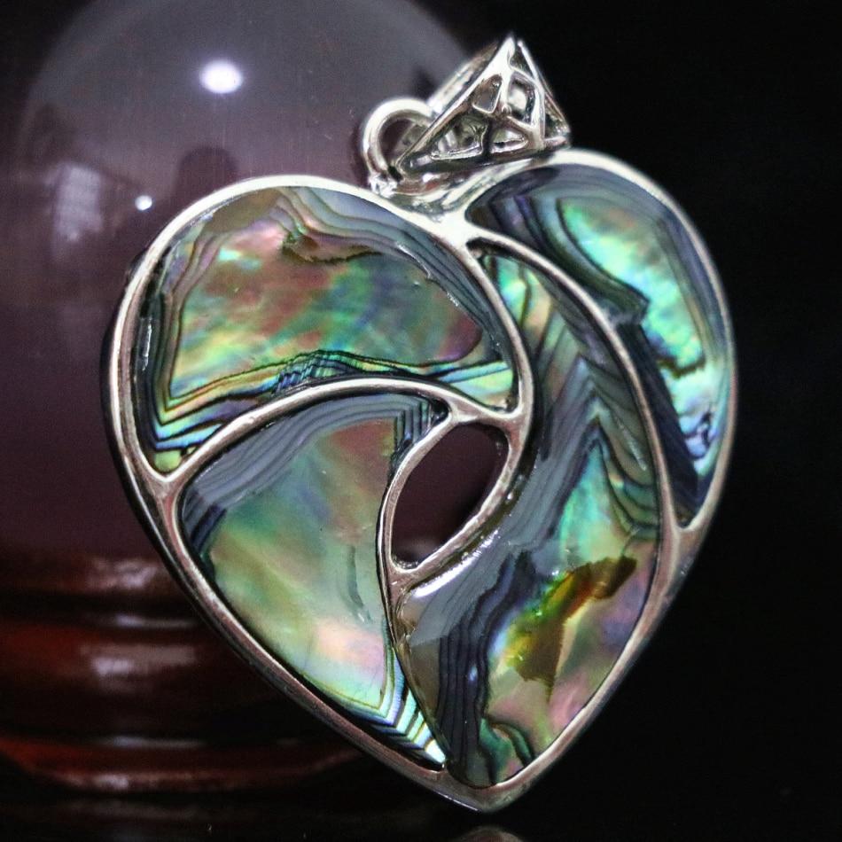 Classcial herzform natürliche abalone shell 35mm spleißen anhänger trendy schmuck accessoires new fashion diy entdeckungen B1125