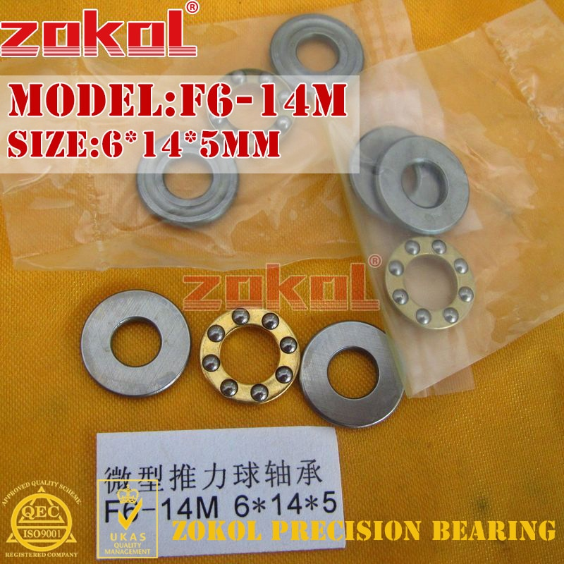 ZOKOL F6-14 M lager F6-14M Miniatur Axial-kugellager 6*14*5mm