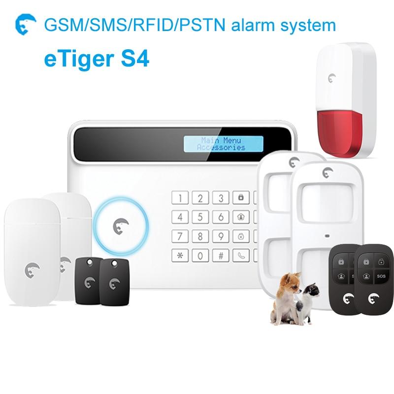 Strobe alarm siren alarmsysteem sim card call SMS home intruder system etiger S4 with ES-S7A