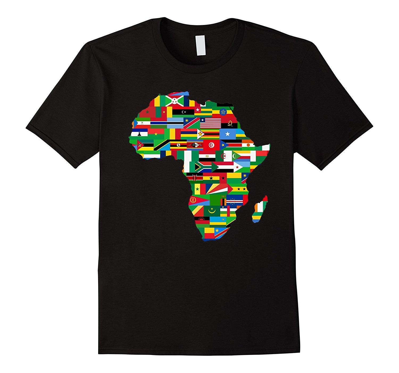 Camiseta África Bandera de países mapa africano Fiesta Americana orgullo verano camiseta marca Fitness Body Building Top camisetas