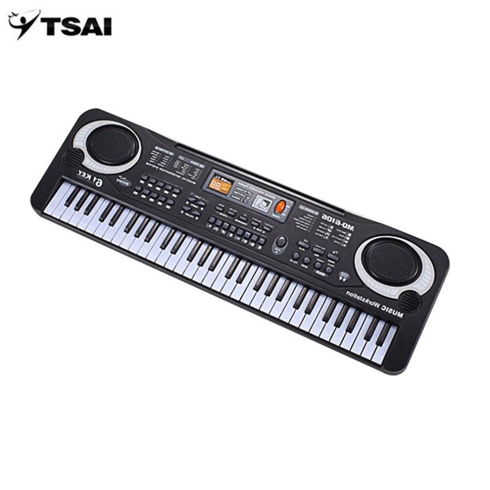 TSAI 61 клавишная электронная фортепианная музыкальная клавиатура с микрофоном музыкальный инструмент для детей Ранний Образовательный инструмент для детей