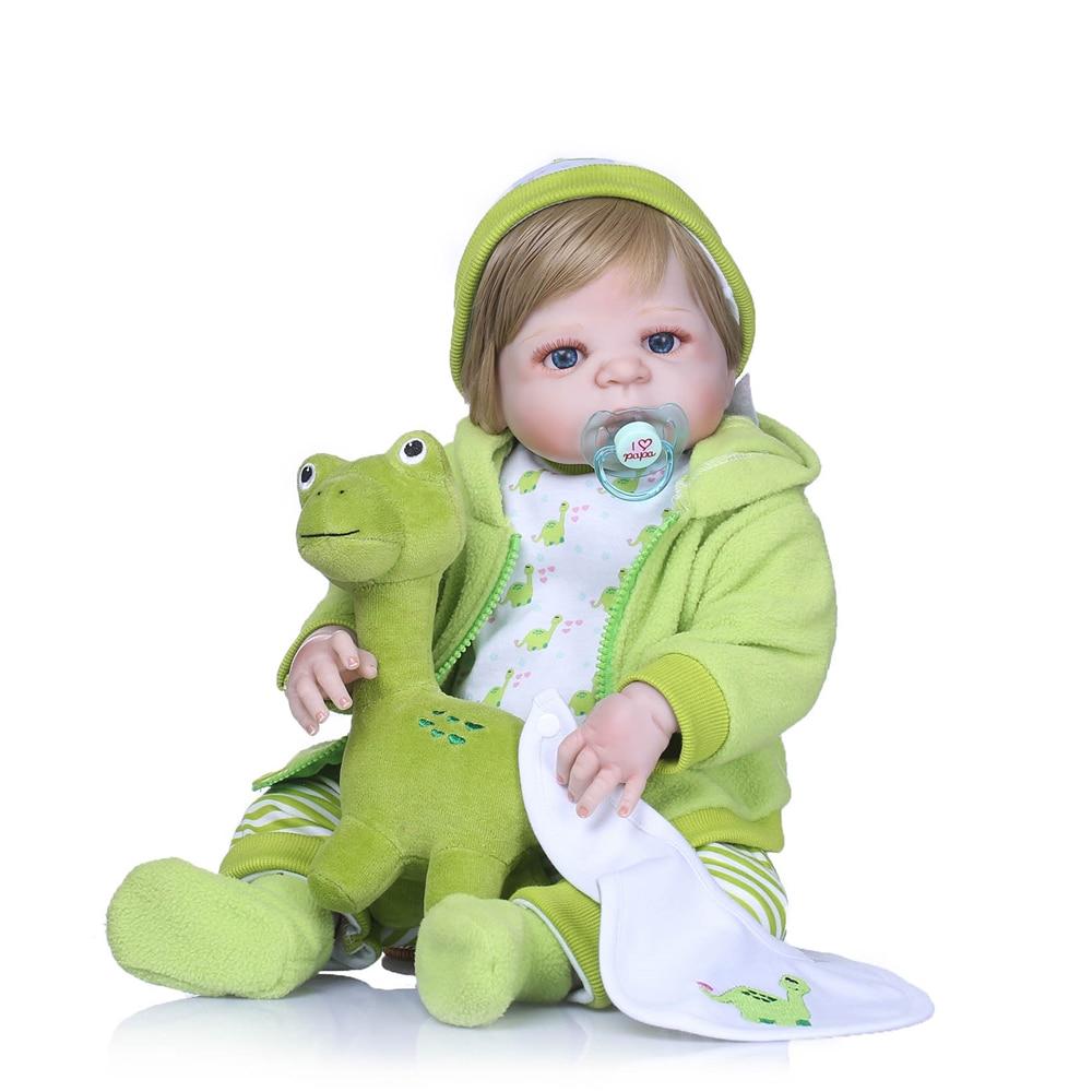 Bebes reborn NPK brand Cosplay dinosaur dolls toys gift 22inch full silicone reborn baby dolls newborn baby boy girl dolls