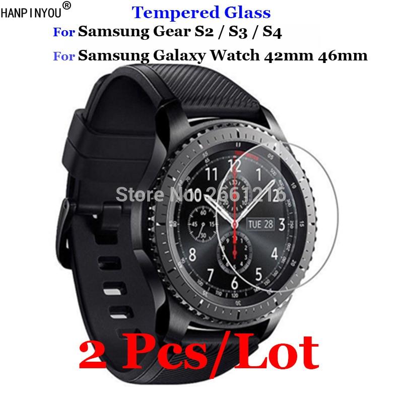 2 piezas para Samsung Gear Sport S3 S4 S2 vidrio templado 9H 2.5D película protectora de pantalla Premium para Samsung Galaxy Watch 42mm 46mm