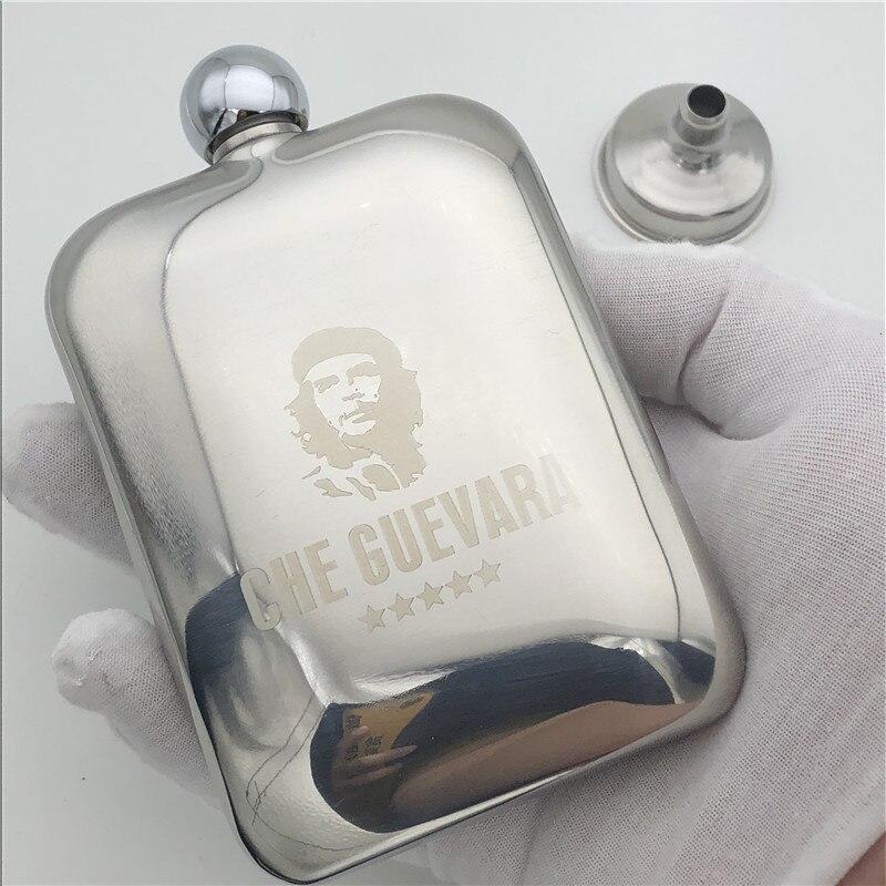 Che Guevara 6 Onça Hip Flask Aço Inoxidável 304 170 ml Flask Álcool Flagon Garrafa de Whisky Vodka de Che Guevara
