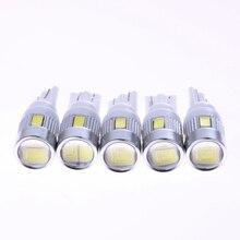 5 قطعة/الوحدة LED سيارة التخليص مؤشرات ضوئية 12 فولت 3 واط T10 5630 6SMD مواقف السيارات أضواء السيارات لوحة ترخيص ضوء 1 الدين سيارة التصميم