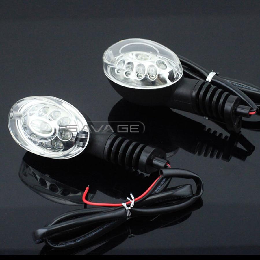 Para KAWASAKI EX250R NINJA 250R KLX250 S/SF Vulcan S 650 indicador LED de señal de giro delantero/trasero lámpara de Luz Accesorios de motocicleta